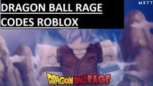 Dragon Ball Rage Codes Roblox